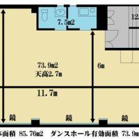 図面 大宮 レンタルスタジオ 広さ 全身鏡 天井高